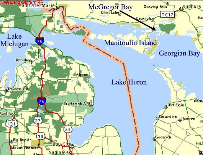 Map Of Michigan And Ontario Canada  Michigan Map